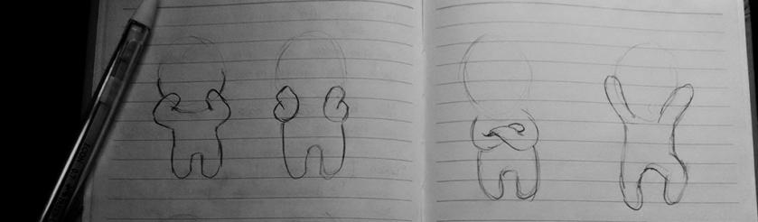 Rough sketches.