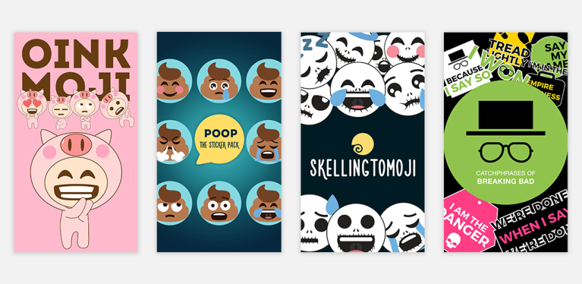 Some of my sticker packs' App Preview. Iterate to see what works.